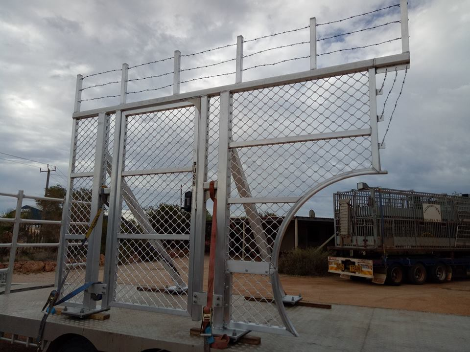 Security Gate Ready for Transport